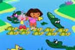 لعبة دورا وموزو فى بحيرة التماسيح