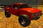 لعبة الشاحنة الحمراء المتوحشة