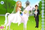 لعبة العروسة والحصان الابيض
