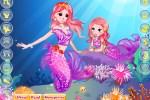 لعبة تلبيس حورية البحر و ابنتها