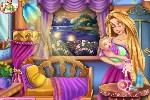 لعبة رابونزيل تهتم بطفلها