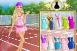 لعبة ملابس التنس مع باربي