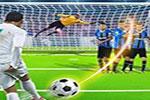 لعبة ضربات جزاء كرة قدم فى المرمى