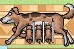 لعبة ترضيع الكلاب الصغيره