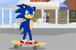 لعبة سونيك يركب لوح التزلج