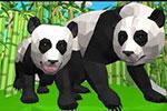 لعبة دببة الباندا الثلاثة3d